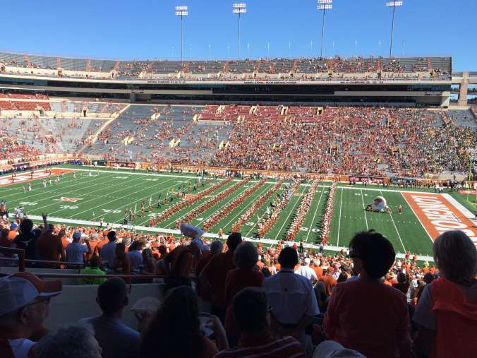 Texas - college football game