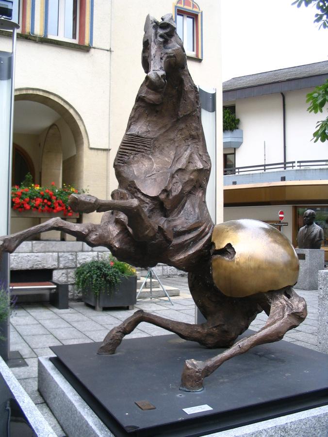 Vaduz Liechtenstein - statue