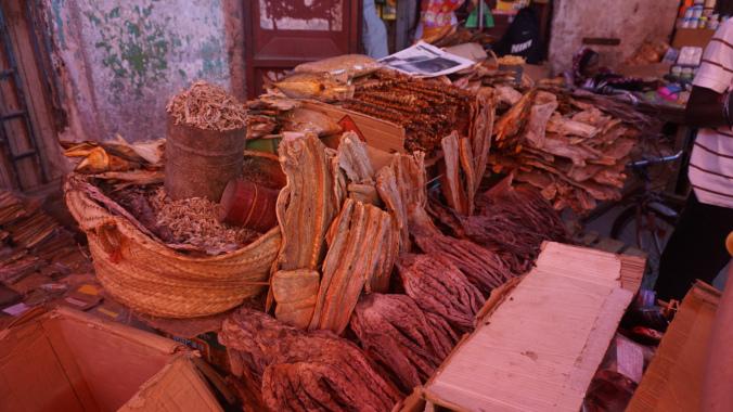 Zanzibar - stone town meat market