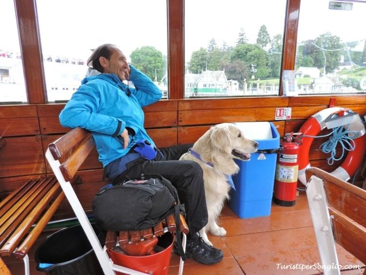 Ci siamo imbarcati sul lago di Windermere