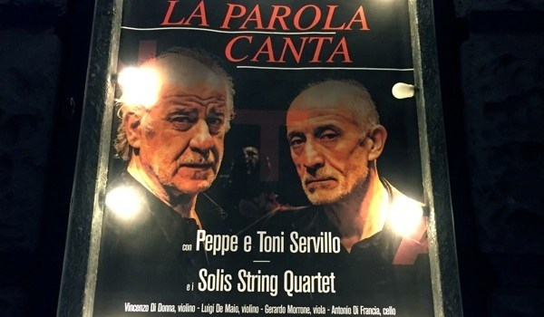 La Parola Canta – Toni e Peppe Servillo ed il Solis String Quartet al Teatro Bellini di Napoli