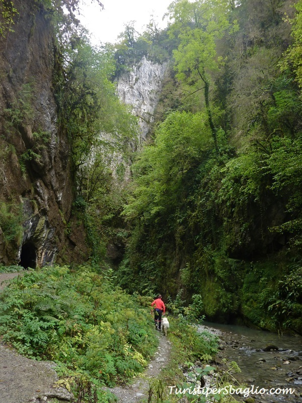 Gole di Kakouetta Paesi Baschi percorso