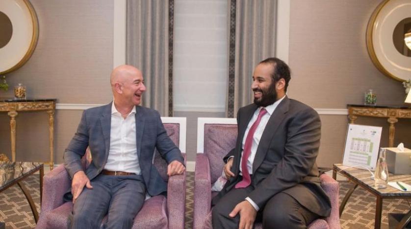 Veliaht Prens, Amazon CEO'su ile bir araya geldi