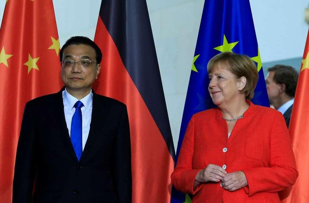 Merkel ve Li serbest ticaretten yana