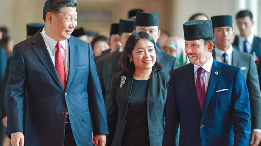 Çin Devlet Başkanı yatırım projelerini görüşmek için Brunei'yi ziyaret etti