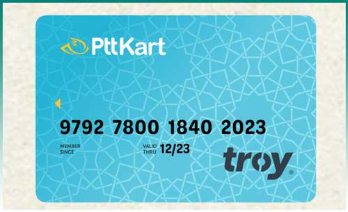 بطاقة ptt البنكية في تركيا