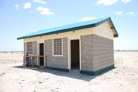 Telesgaye Primary School kitchen under construction