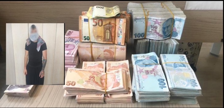 سوري وتركي يسرقان 550 ألف ليرة ويحاولان الهرب بزي نسائي في قونيا