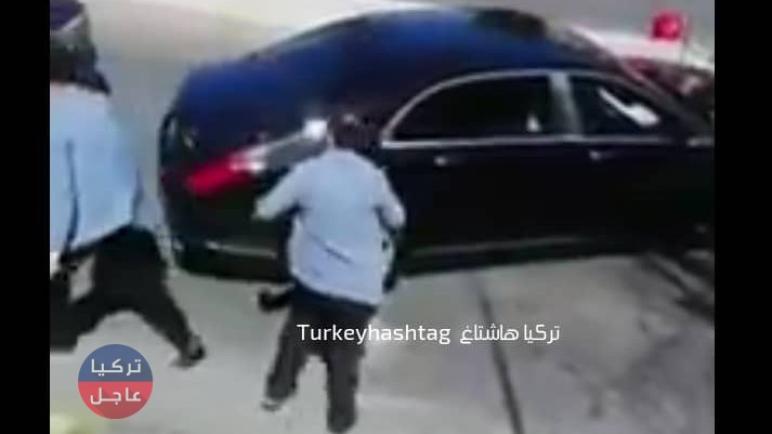 شاهد بالفيديو لحظة اعتراض سائق تاكسي لموكب الرئيس التركي رجب طيب أردوغان