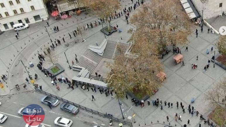 تركيا عاجل : شاهد بالصور طوابير لمئات الأمتار للمواطنين الأتراك .. ما القصة؟