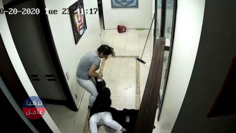 شاهد بالفيديو مافعلته امرأة بزميلتها داخل إحدى عيادات الأسنان في إسطنبول