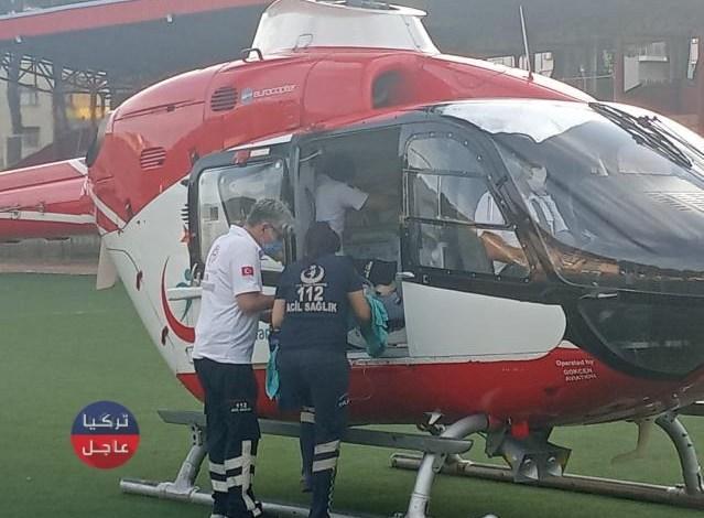 نقل طفلة سورية بطائرة مروحية وبشكل عاجل إلى مشفى في إزمير .. ما قصته؟!