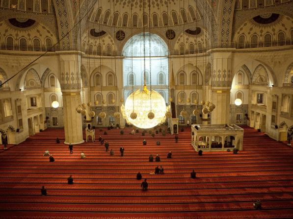 Kocatepe Mosque In Ankara, The Capital Of Turkey