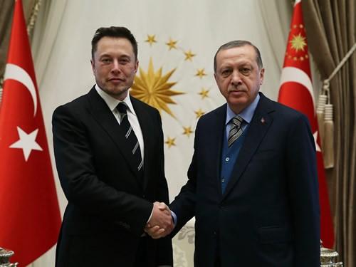 Elon Musk, Tesla, President Erdogan, SpaceX, electric car, satellite