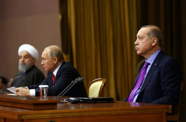 Turkish media highlights, Erdogan, Putin, Rouhani, Syria, Sochi summit, YPG.