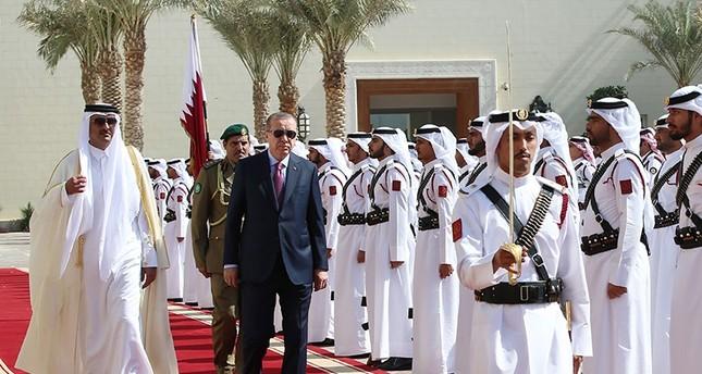 Erdogan, Doha, Qatar, visit, military support, Gulf crisis