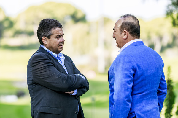 Mevlut Cavusoglu, Sigmar Gabriel, meeting, Antalya, Germany, Turkey, tension