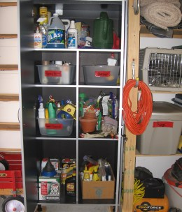 locked cabinet storage