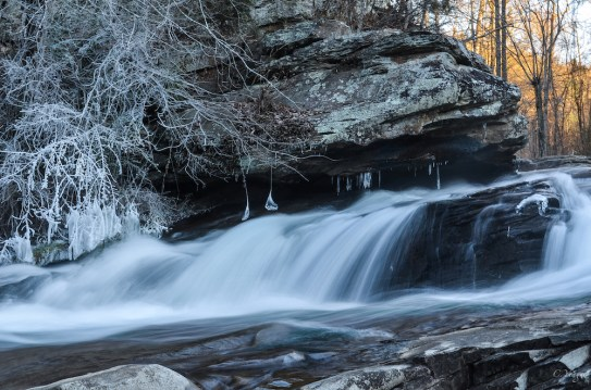 Turkey Creek Falls in Winter