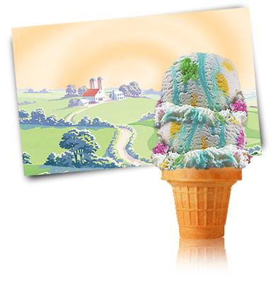 Party Cake Ice Cream Ice Cream Island