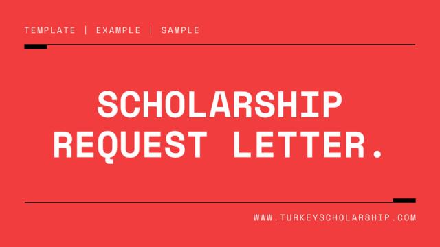 Scholarship Request Letter: Scholarship Request Letter Sample
