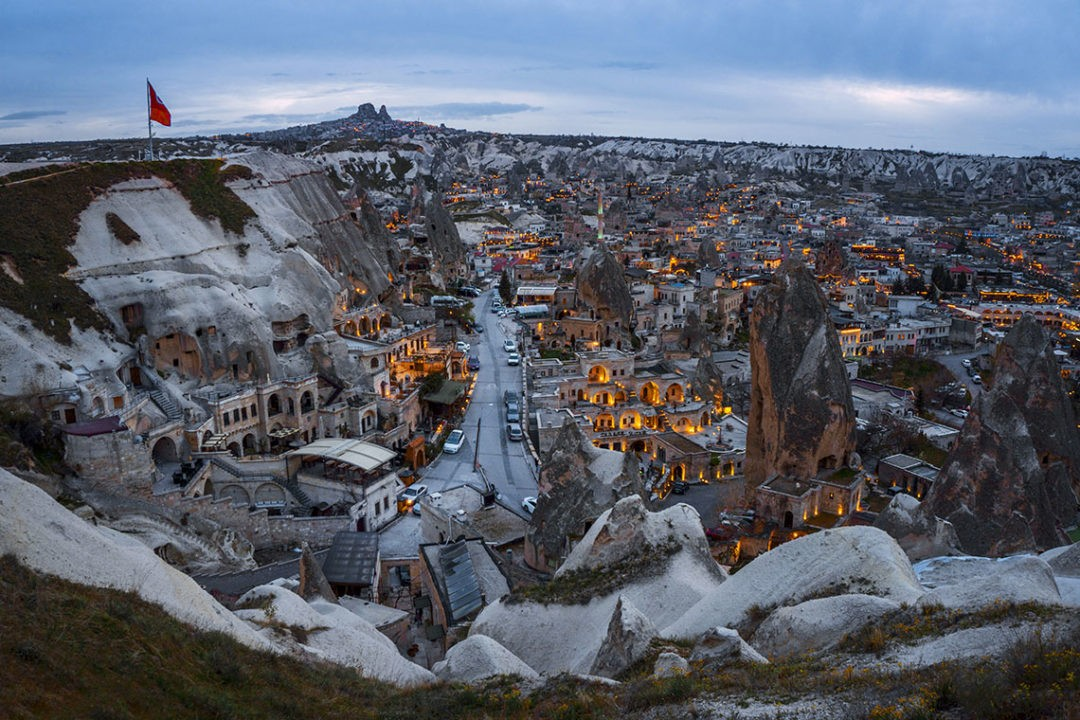 Goreme sunset view point turkey