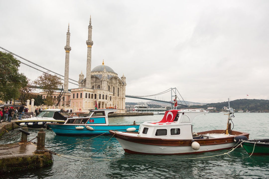 Ortakoy Mosque and Bosphorus Bridge