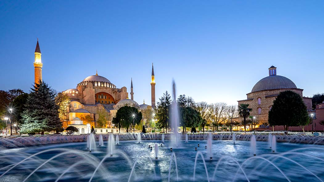 Panorama view of Hagia Sofia