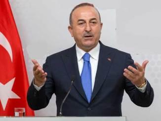Turkin Ulkoministeri Mevlüt Çavuşoğlu.