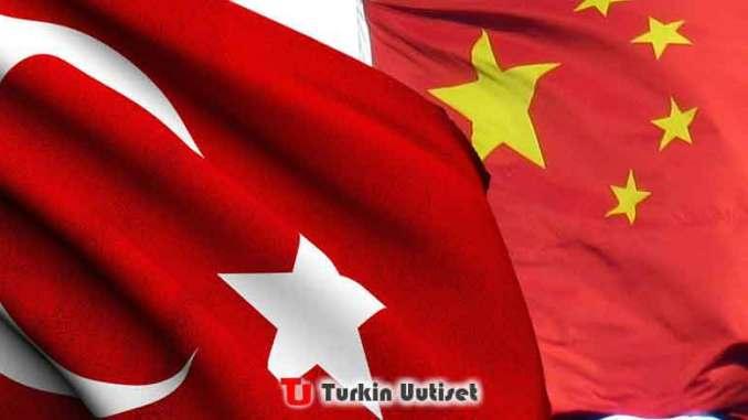 Turkin ja Kiinan liput