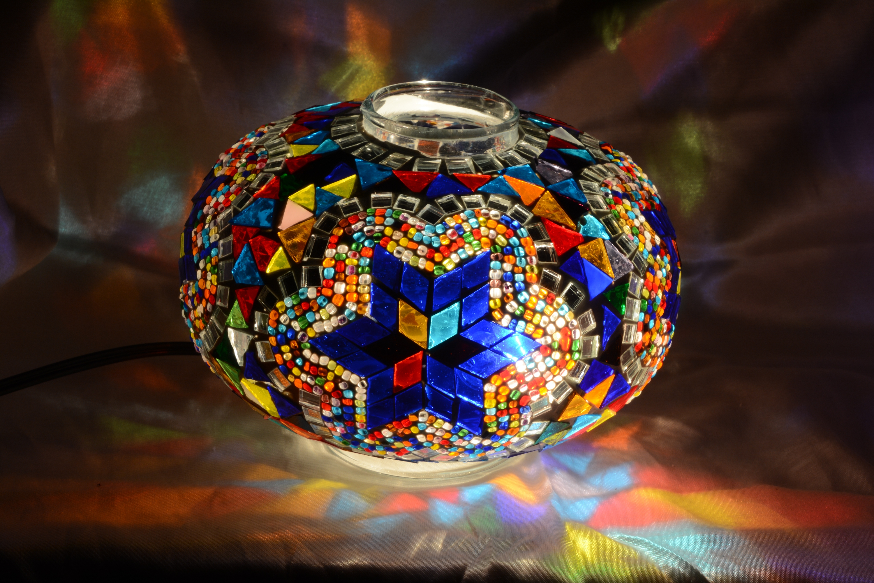 3 size mosaic lamp glass model