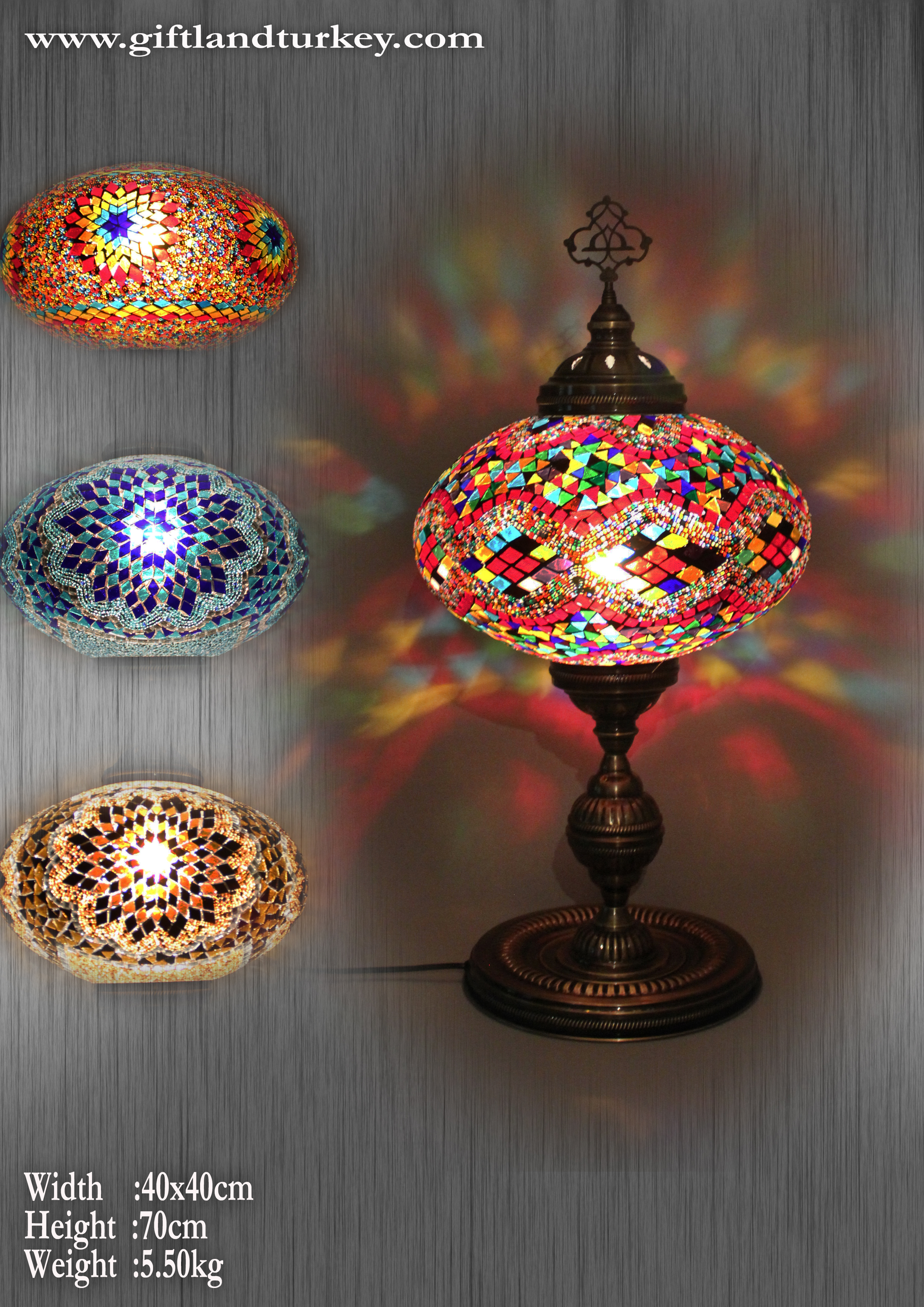 Turkish mosaic lamp is one of the traditional means.