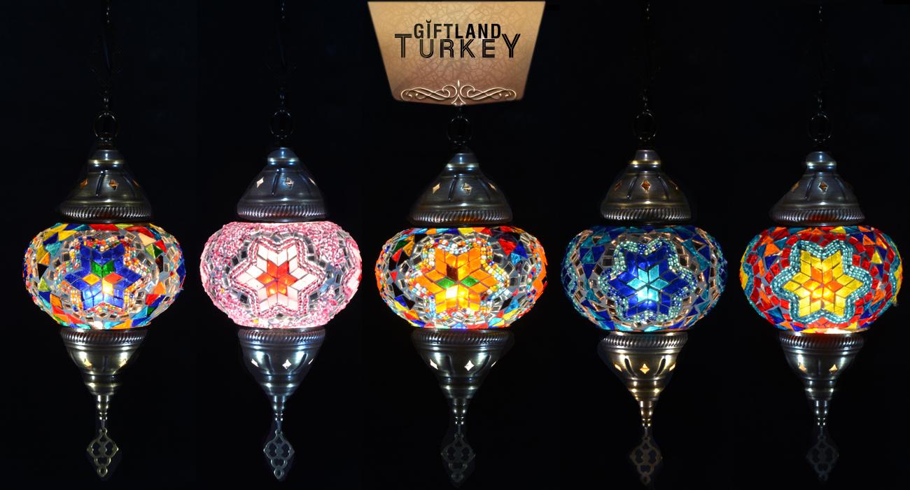 Single Chain Mosaic Lamp Size 2