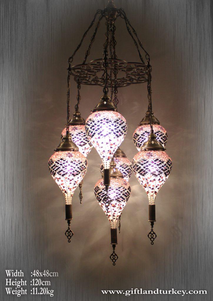 Drop Mosaic Lamps