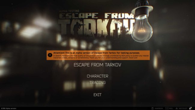 Escape From Tarkov Alpha Detayları