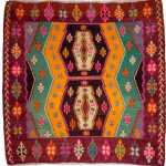 Decorative Kilim Rug Turkish Kilim Rug Multi Color Kilim Rug