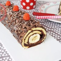 Chocolate Banana Roll Cake Recipe
