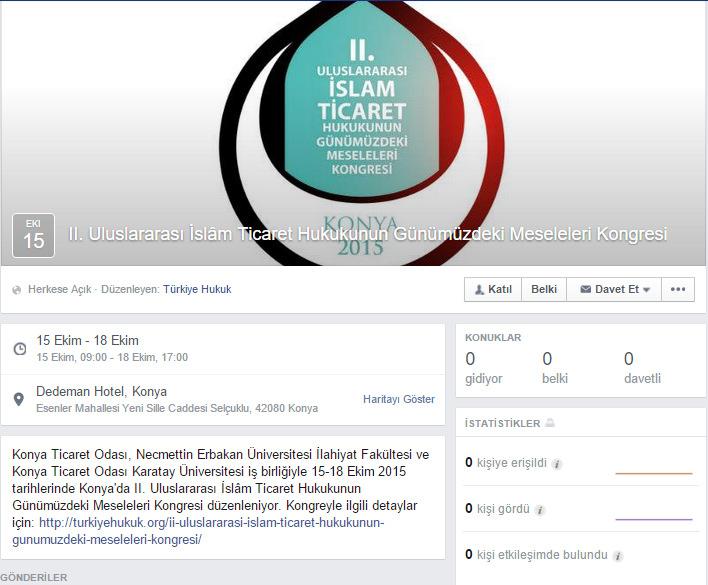 II. Uluslararası İslâm Ticaret Hukukunun Günümüzdeki Meseleleri Kongresi