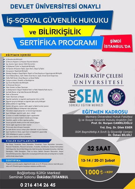 İş - Sosyal Güvenlik Hukuku ve Bilirkişilik Sertifika Programı