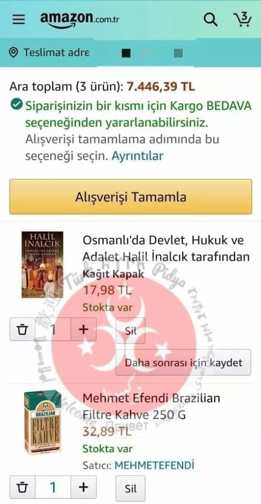الشراء من شركة امازون في تركيا