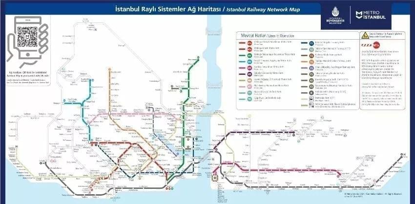 خريطة مترو اسطنبول 2 1