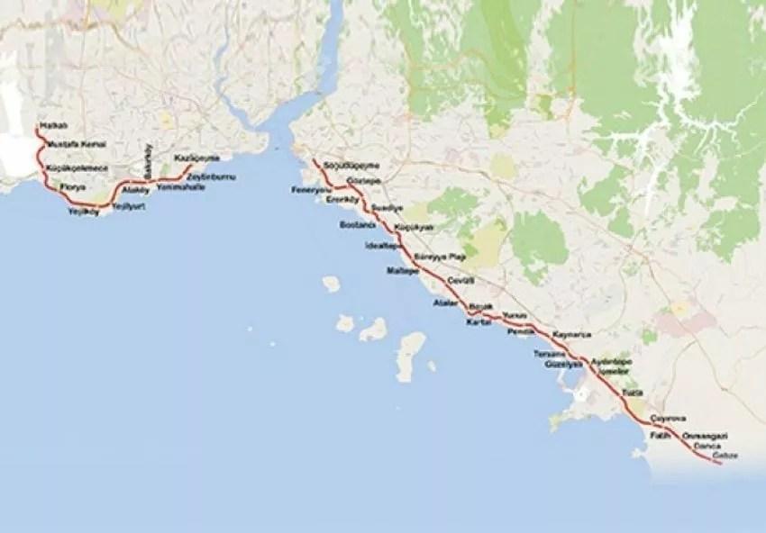 plan du métro de marmaray