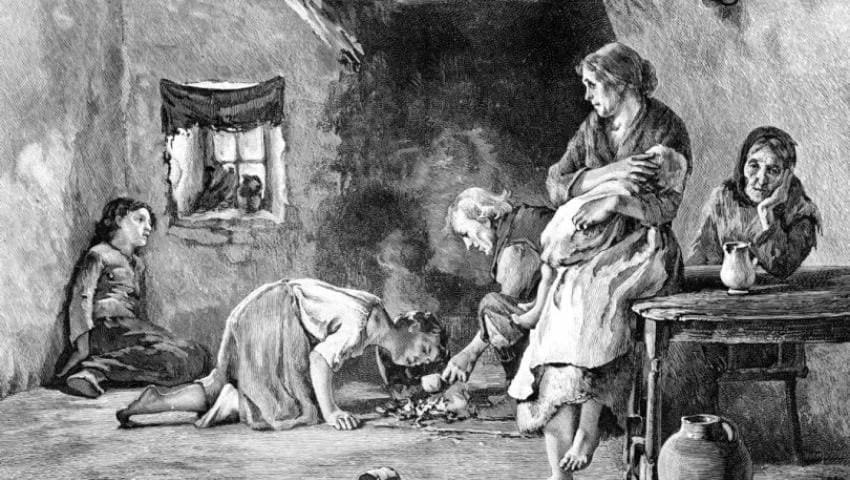 مساعدة الدولة العثمانية مجاعة ايرلندا