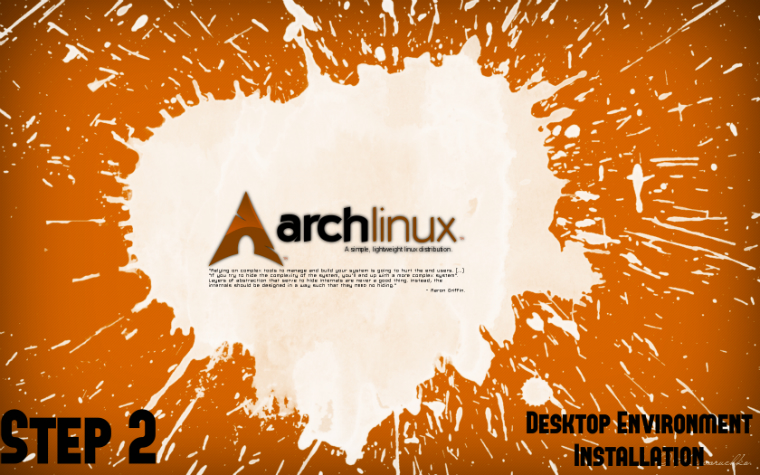 Arch Linux Install Guide - Step 2: Desktop Environment Installation