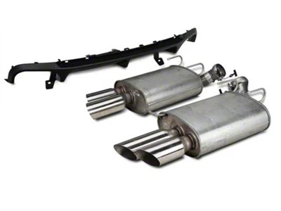 ford performance quad axle back exhaust with gt500 rear valance 13 14 all