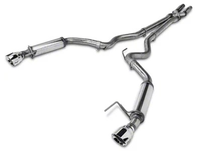 magnaflow competition series cat back exhaust with polished tips 15 17 v6