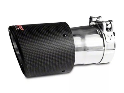 mbrp 4 50 inch carbon fiber exhaust tip 3 inch connection universal fitment