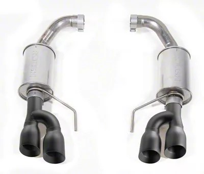 roush axle back exhaust with black tips 18 21 gt w o active exhaust
