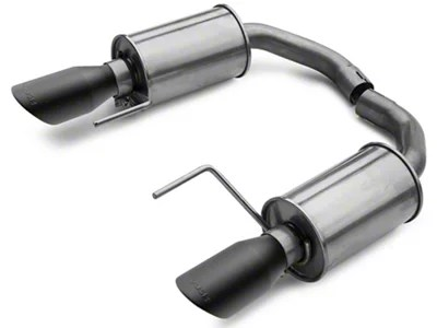 roush axle back exhaust with black tips 15 17 v6