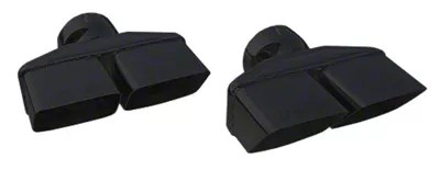 pypes 3 inch black dual rectangle exhaust tips 08 14 all
